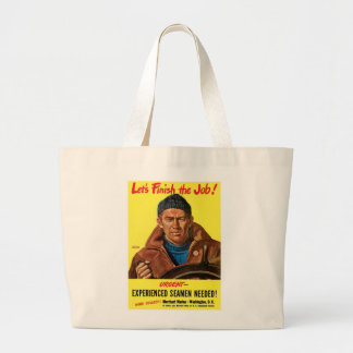 Finish The Job! Jumbo Tote Bag