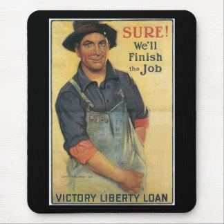 Finish The Job World War II Mousepads
