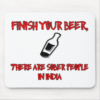 finish your beer with a bottle of beer mousepads