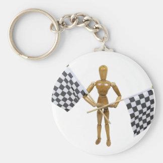 FinishLine071809 Basic Round Button Key Ring