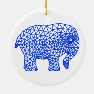 Finite Elephant Christmas Ornament