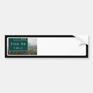 Fink rd Crows Landing CA Bumper Stickers