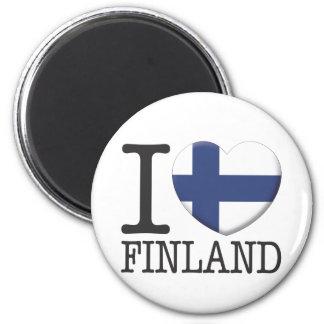 Finland 6 Cm Round Magnet
