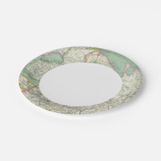 Finland and Russia 7 Inch Paper Plate