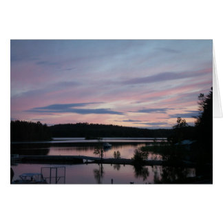 Finland at Sunset Card