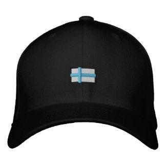 Finland (Black Cap_ Embroidered Cap
