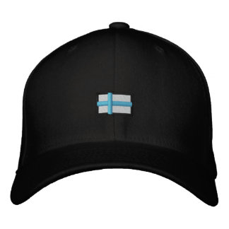 Finland (Black Cap_ Embroidered Hat