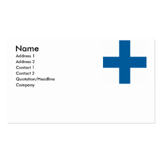 Finland Business Card Template