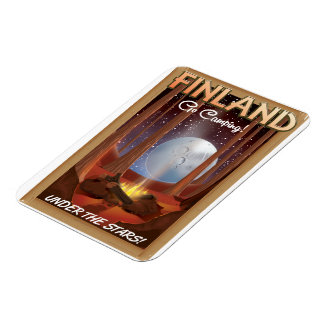 Finland camping under the stars poster magnet