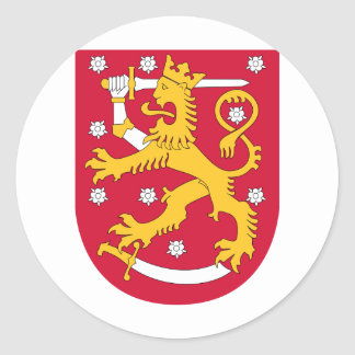 Finland coat of arms classic round sticker