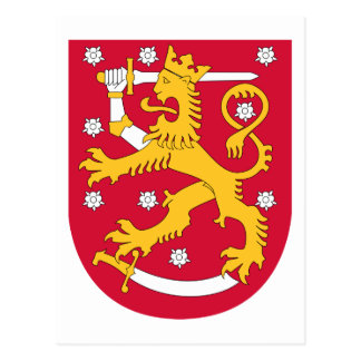 Finland Coat of arms FI Postcard