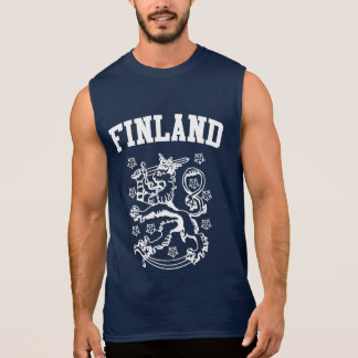 Finland Coat of Arms Sleeveless Shirt