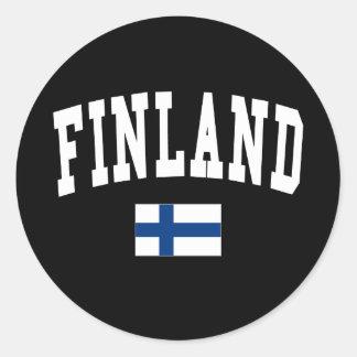 Finland College Style Classic Round Sticker