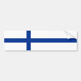 finland country flag long symbol bumper sticker