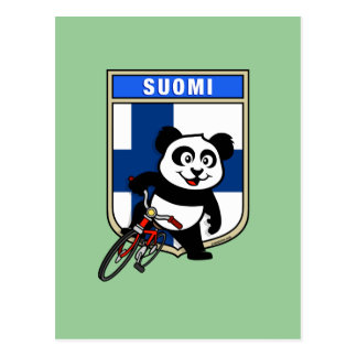 Finland Cycling Panda Postcard