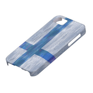 Finland distressed Finnish flag iPhone 5 Cases