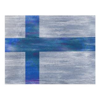 Finland distressed Finnish flag Postcard