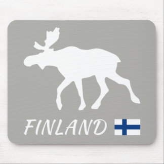 Finland Elk and flag Mouse Mat