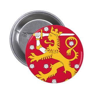 finland emblem 6 cm round badge
