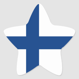 Finland/Finnish/Finn (Civil) Flag Star Sticker