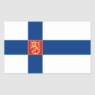 Finland/Finnish/Finn Flag Rectangular Sticker