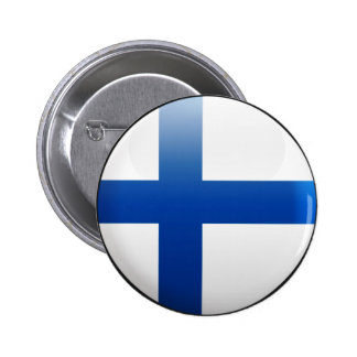 Finland Flag 6 Cm Round Badge