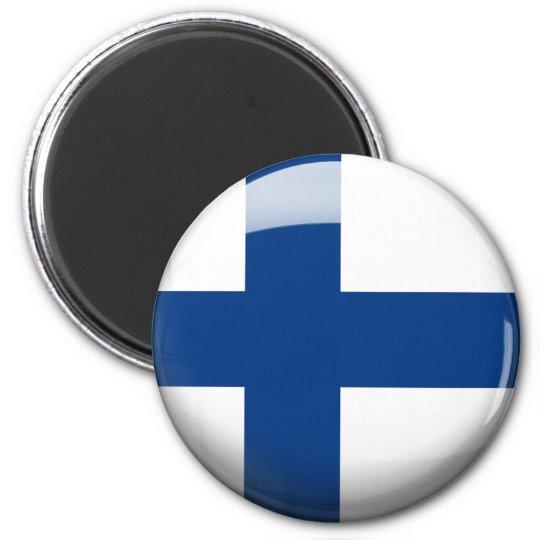 Finland Flag 6 Cm Round Magnet