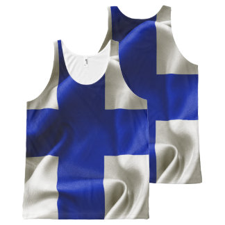 Finland Flag All Over Print Unisex Tank Top All-Over Print Tank Top