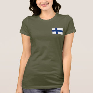 Finland Flag and Map dk T-Shirt