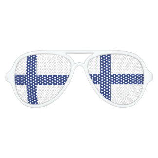 Finland Flag Aviator Sunglasses