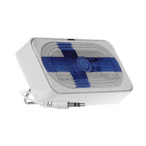 Finland Flag Blue Nordic Cross On White Speaker