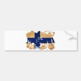 Finland Flag Bumper Sticker