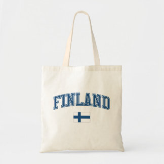 Finland + Flag Canvas Bags