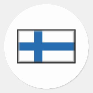 Finland Flag Classic Round Sticker