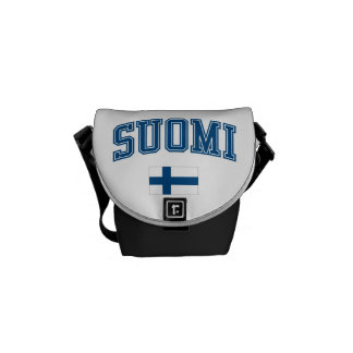 Finland + Flag Courier Bag