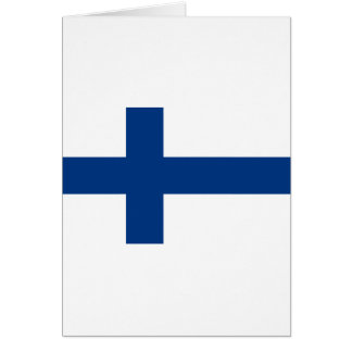 Finland Flag FI Card