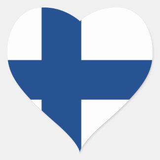 Finland Flag FI Heart Sticker