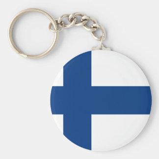 Finland Flag FI Key Ring