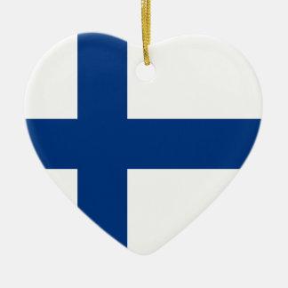 Finland Flag Heart Ornament
