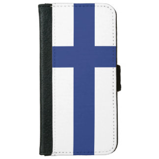 Finland Flag iPhone 6 Wallet Case