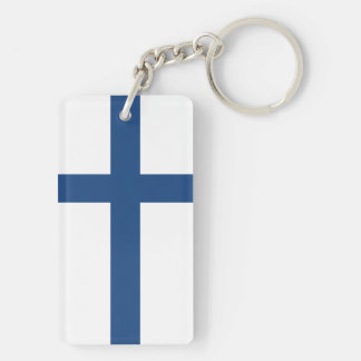 FINLAND FLAG KEY RING