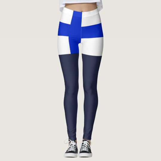 Finland flag leggings
