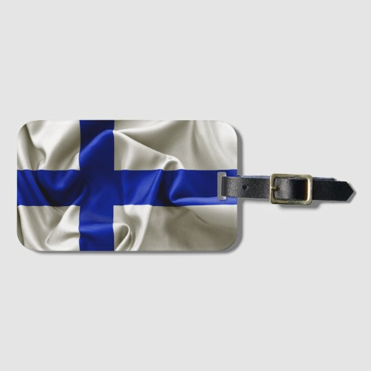 Finland Flag Luggage Tag