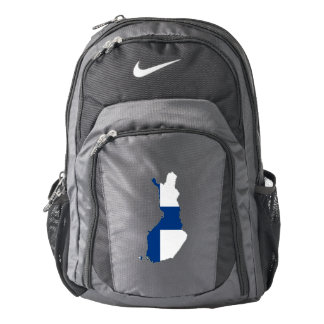 Finland Flag/Map Backpack