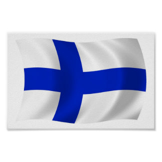 Finland Flag Poster Print