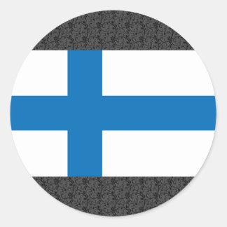 Finland Flag Round Sticker