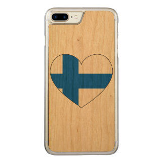 Finland Flag Simple Carved iPhone 7 Plus Case