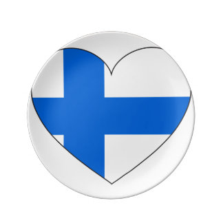 Finland Flag Simple Plate