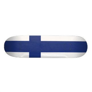 Finland Flag Skateboard