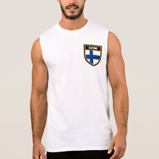 Finland Flag Sleeveless Shirt